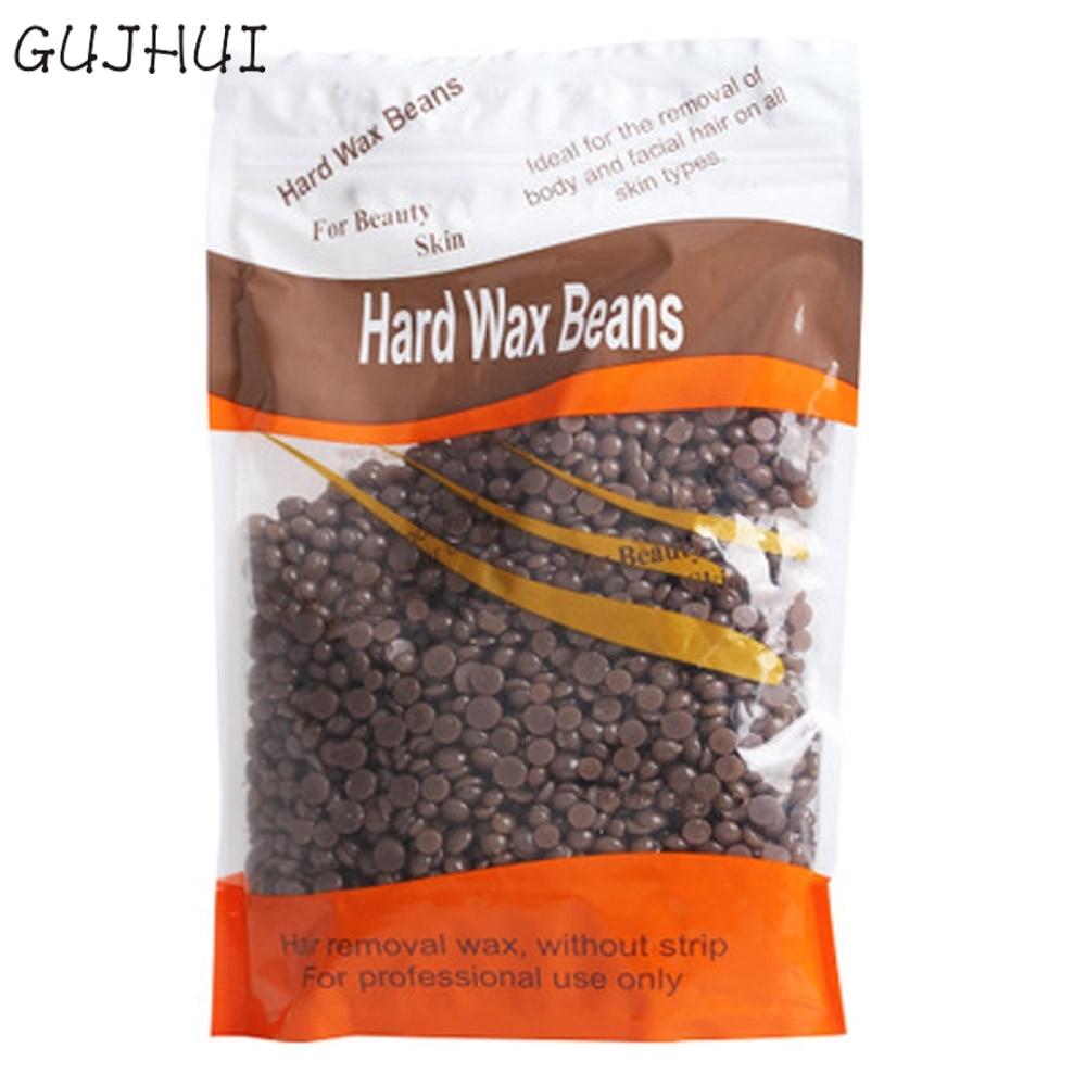 1 bag Coffee Flavor No Strip Depilatory Hot Film Hard Wax Pes