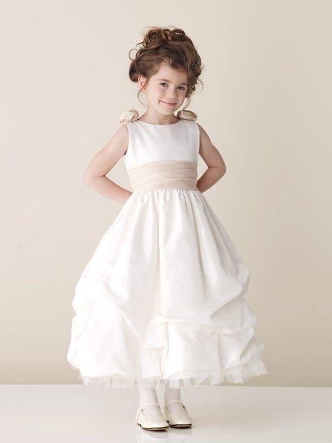 2010 new style beauty ivory color taffeta organza flower girl dress ,flower dresses BZ0820001