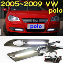 Car-styling,POLO daytime light,2005~2009/2011~2013,chrome,LED,Free ship!2pcs,POLO fog light,car-covers,POLO