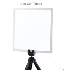 Image 4 - PULUZ Mini 22.5cm LED Photography Shadowless Bottom Light Shadow free Light Lamp Panel Pad for 20 cm Photo Studio Box lightboxs