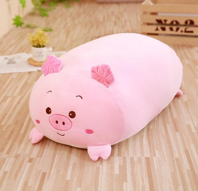 Image 3 - 30/60cm Soft Animal Cartoon Pillow Cushion Cute Fat Dog Cat Totoro Penguin Pig Frog Plush Toy Stuffed Lovely kids Birthyday Gift-in Stuffed & Plush Animals from Toys & Hobbies