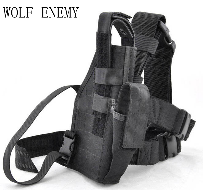 High Quality 1000D Adjustable Black Outdoor Hunting Waterproof Military Tactical Puttee  ...