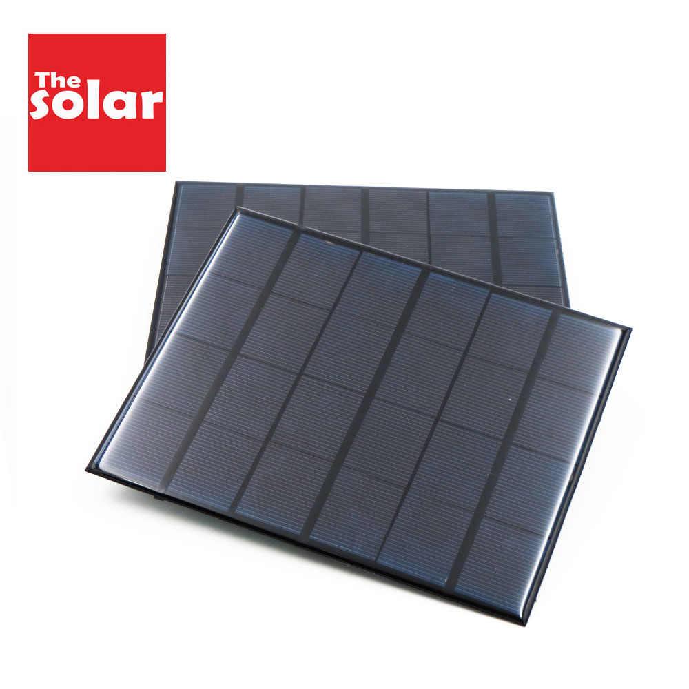 Solar Cell 5.5 V Bluetooth speaker Powerbank Digital camera Solar System DIY For Battery 5V Solar Panel Phone Chargers Portable