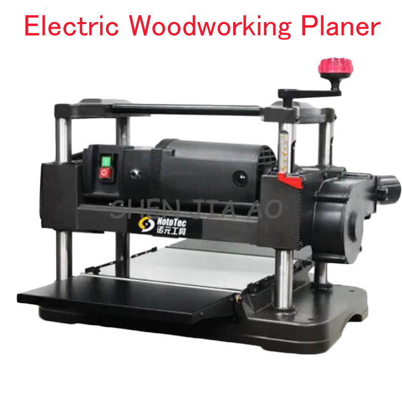 Electric Woodworking Planer Desktop Wood Planer Machine Flat Knife Wood Cutting Machine Automatic Feeding Woodworking Planer household desktop woodworking planer machine multi functional diy electric planer wood planing machine 220v 1pc