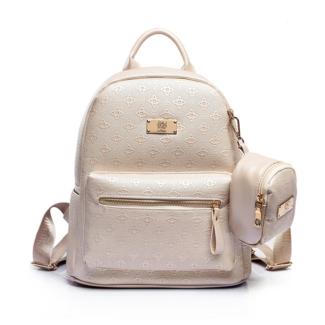 Summer New luxury 2017 Women Backpack with Purse Bag Female PU Leather  Embossing High Quality School Bag for Teenages Travel bag 8dddb95d79