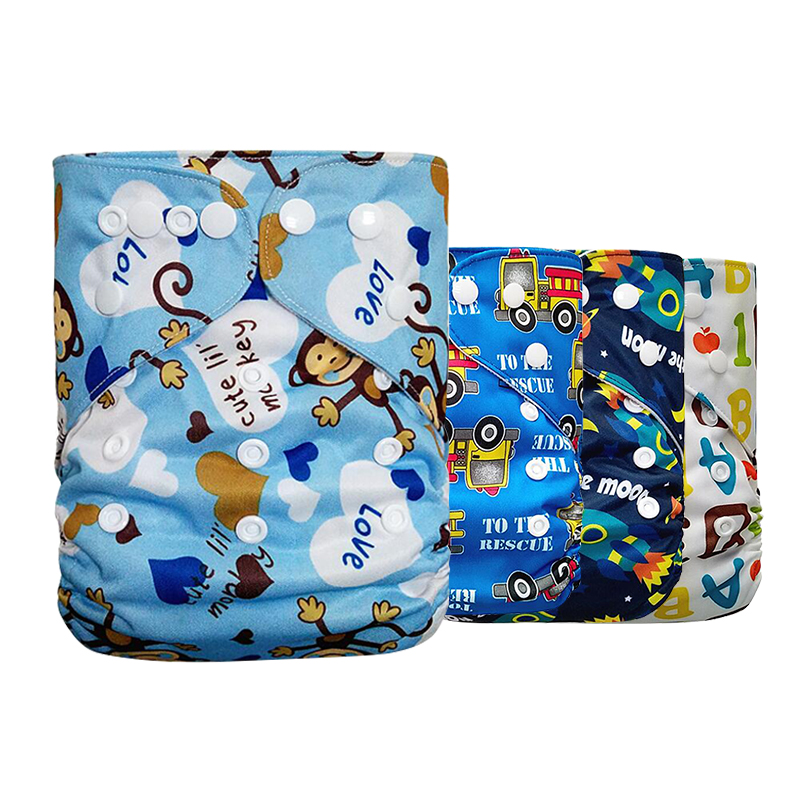 Washable Baby Cloth Diaper Cover Waterproof Cartoon Baby Diapers Reusable Nappy