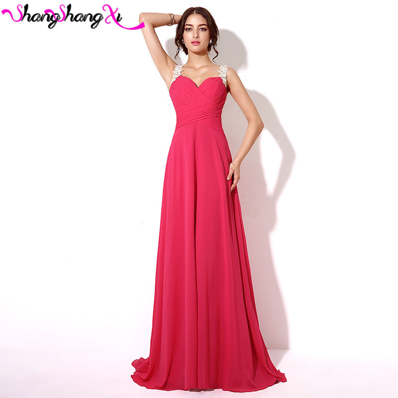 Real Image Chiffon Lace Formal Prom font b Dresses b font Sheer Back Fuchsia Burgundy Black
