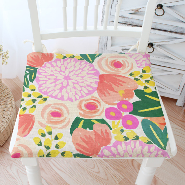 GroBartig Europäischen Stil Garten Stuhl Kissen Westlichen Vintage Blumen Esszimmer  Stuhl Kissen Waschbar Pad Kissen Freies Schiff