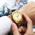 CHENXI de moda de los hombres de lujo reloj de acero inoxidable correa de reloj impermeable Calendario de pulsera de cuarzo de oro reloj masculino 46