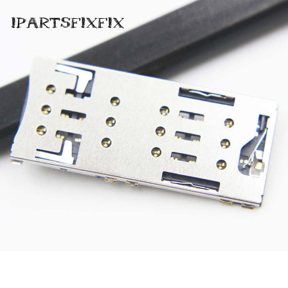 10pcs/lot For Sony C5 Ultra Dual E5533 E5563 Original Brand New Nano SIM Card Reader Nano SIM Card Socket SIM Card Slot