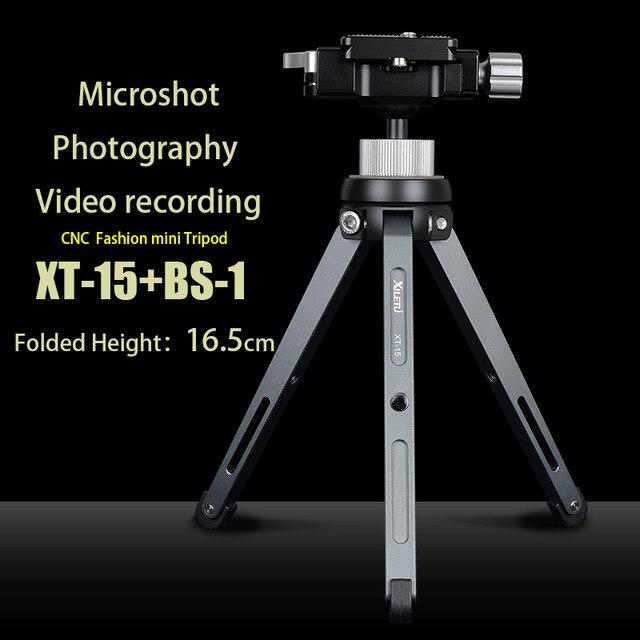 XILETU XT-15 + BS-1 support de téléphone pour appareil photo Mini trépied de table léger pour Smartphone DSLR appareil photo sans miroir