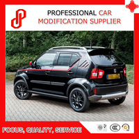 For Ignis car spoiler Black white color ABS rear roof wings spoiler for Ignis 2016 2017 2018