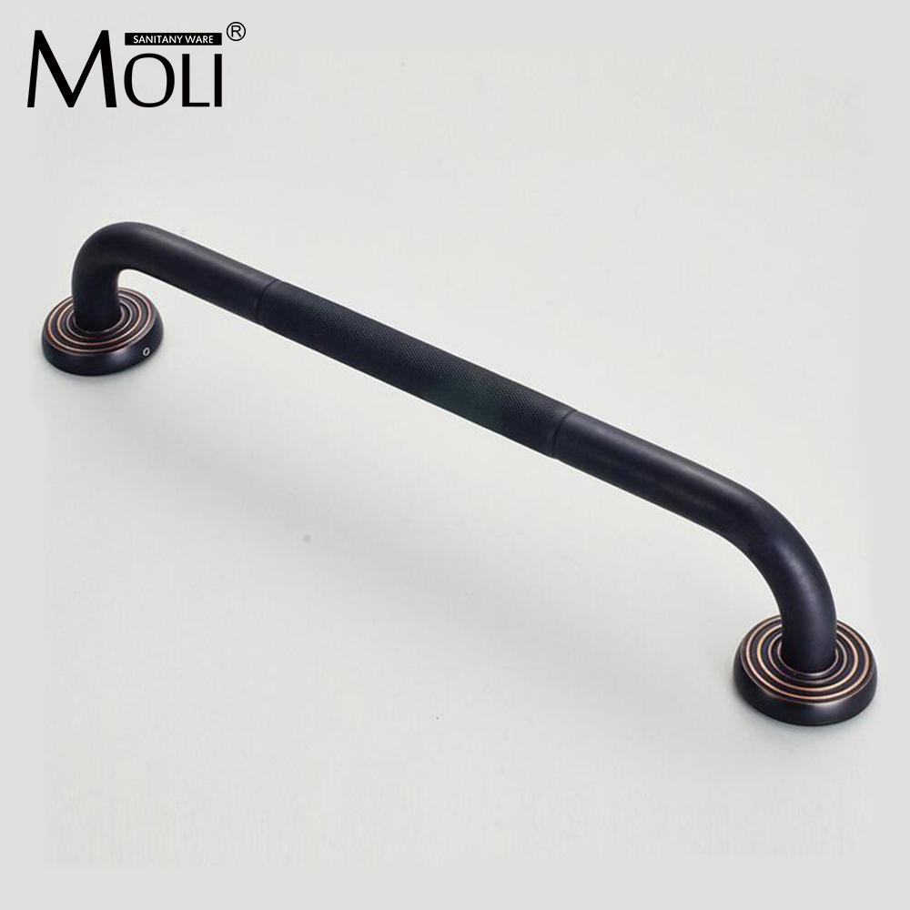 Safety handle high quality soild brass oil-rubbed bronze grab bar bathtub handrails non slip grip bathroom tub hardware