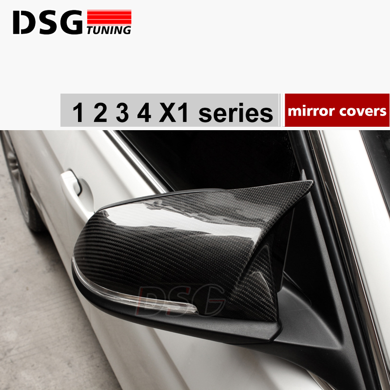 M3 style F30 replacement carbon fiber door side wing mirror cover cps for bmw F20 F21 F22 F23 F31 F34 F32 F33 F36 & X1 E84 m style carbon mirror cover for bmw 1 2 3 4 x serie f20 f21 f22 f23 f30 f31 f32 f33 f36 x1 e84 m3 m4 look replacement