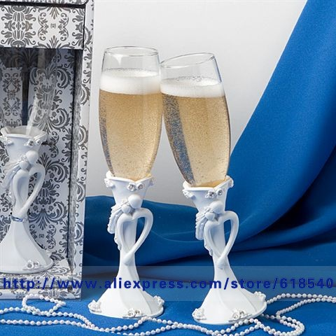 Free Shipping Bride Groom Wedding Toasting Flutes Champagne Gles Decoration Supplies All For In Party Diy Decorations From Home