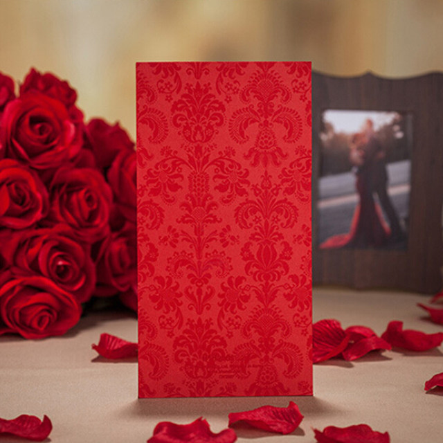online shop 1pcs sample red gold hollow laser cut wedding