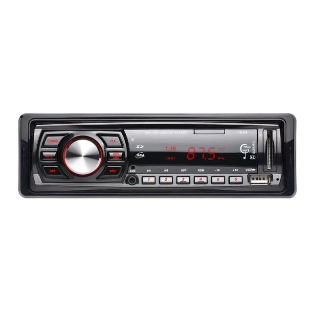 Автомобиль Радио Стерео Аудио Mp3-плеер 12 В В тире Одноместный 1 Дин FM Приемник Aux Приемник USB SD с Дистанционным Управлением