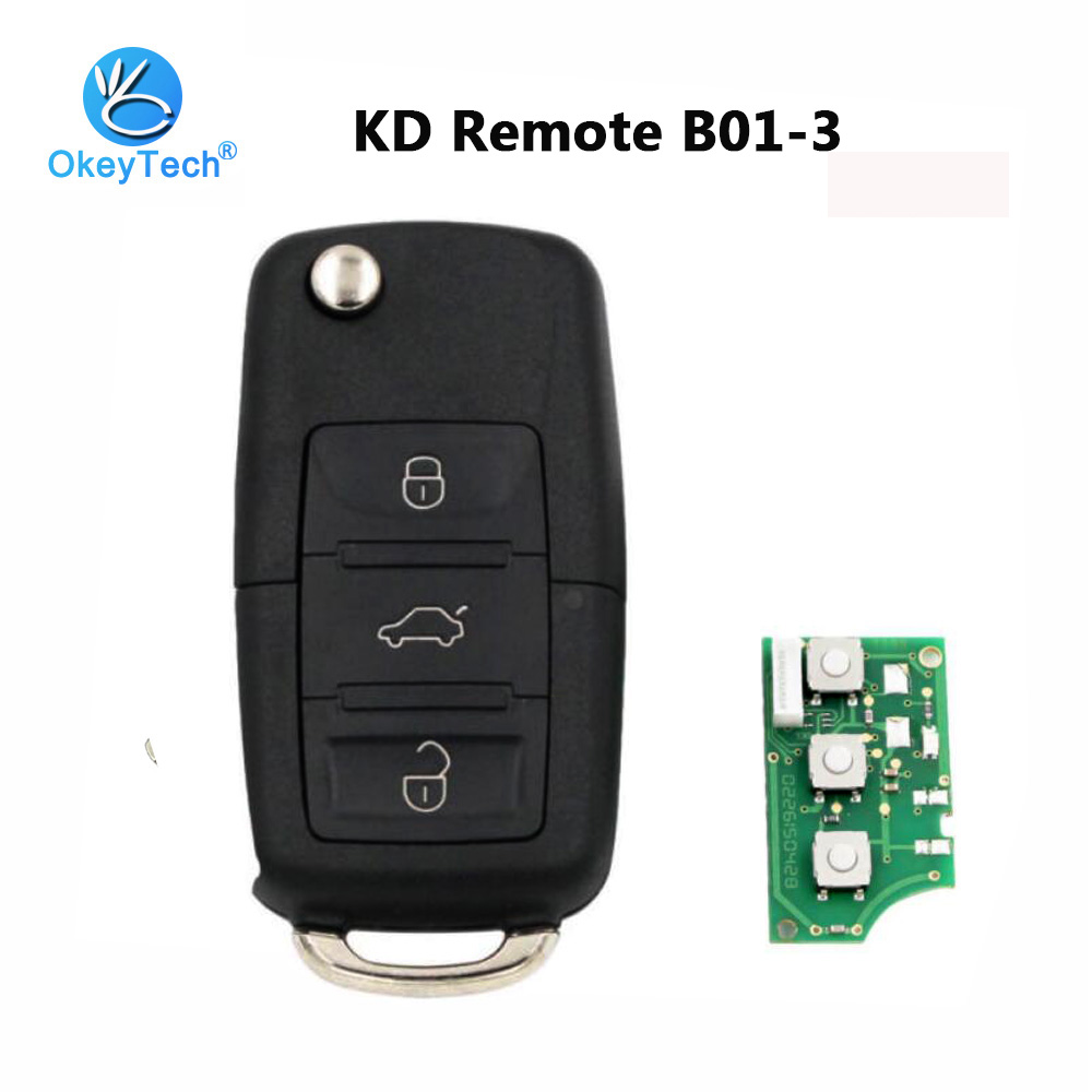 OkeyTech B01 KD Remote Control Key 3 Button Style B Series For KD900 KD900+ URG200 Keydiy Key Programmer Machine for VW B01-3OkeyTech B01 KD Remote Control Key 3 Button Style B Series For KD900 KD900+ URG200 Keydiy Key Programmer Machine for VW B01-3