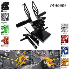 CNC Aluminum Adjustable Rearsets Foot Pegs For Ducati 749 999