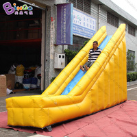 Personalized 5x1x3.1 meters yellow inflatable slide / inflatable water slide / inflatable dry slide toys