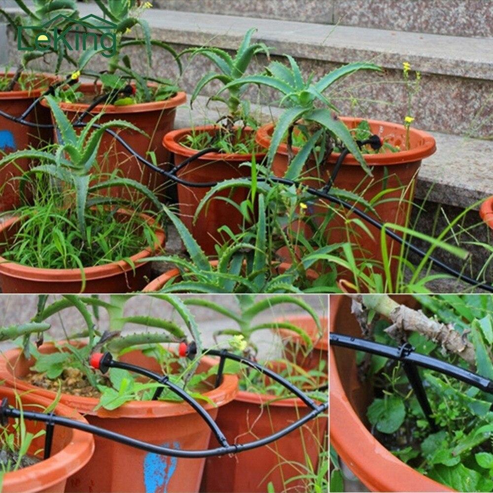 € 19.35 29% de réduction|Ensemble de 8 Pcs Irrigation Outil 25 M 4/7 tuyau  D\'arrosage BRICOLAGE Outil de jardin Micro Système D\'irrigation Goutte À ...