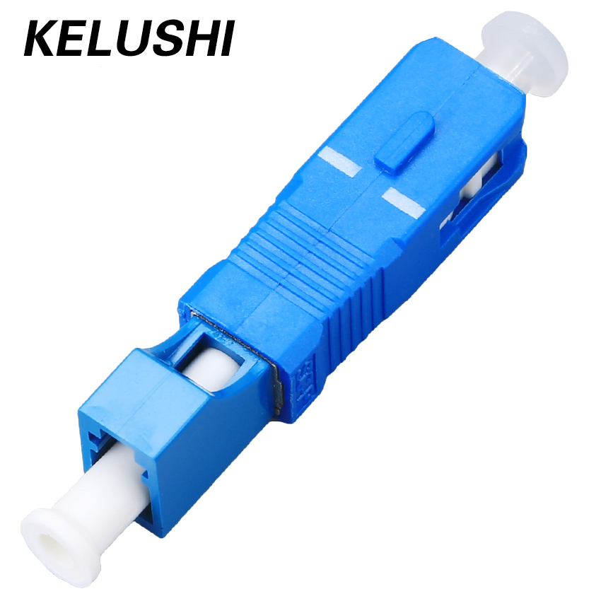 Free Shipping SC-LC High Quality Fiber Optic Adapter SC Male To LC Female Hybrid Optical Adaptor KELUSHI