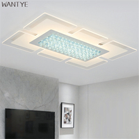 Ultra Thin Rectangle Crystal Ceiling Light Modern LED Ceiling Lamp For Indoor Lighting Fixtures For Dining