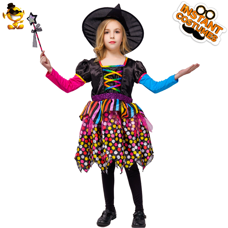 Dsplay Girls Cute Witch Costume Girls Magic Starry Elegant Witch Fancy Dress Costumes For Halloween Christmas Carnival Party Girls Costumes Aliexpress