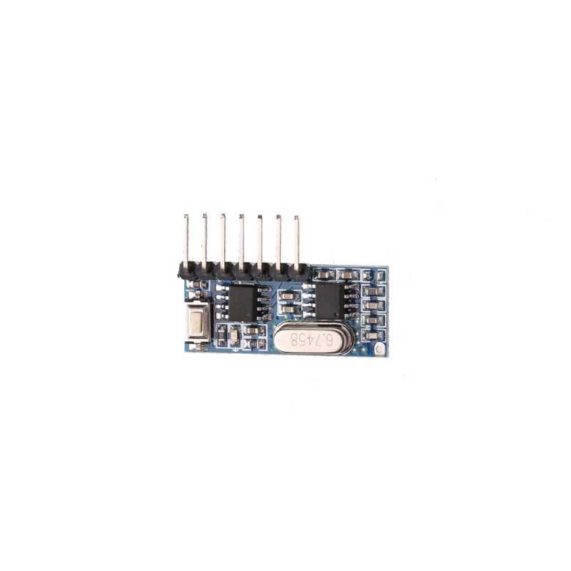 433mhz inalámbrico 4 canales RF receptor 1527 aprendizaje código decodificador módulo para Control remoto
