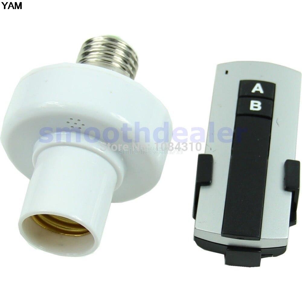 E27 Screw Wireless Remote Control Light Lamp Bulb Holder Cap Socket Switch e27 wireless remote control switch light bulb socket white ac 110 220v