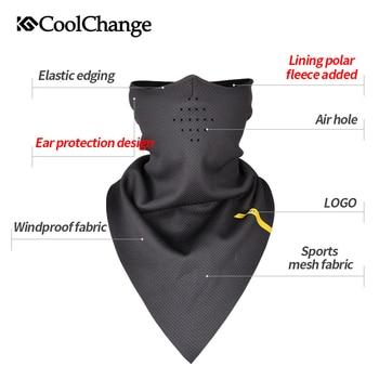 CoolChange אופניים מסכת פן חמות רכיבה אלסטית משולש מסכת פליס לנשימה אוזן מגן אופני Facemask