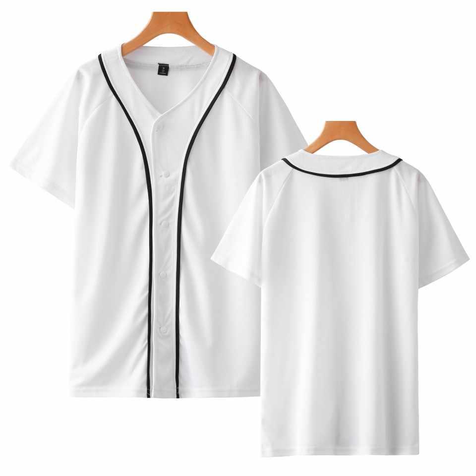 ソリッドカラーの女性/男性野球 tシャツ夏半袖ファッション Tシャツカジュアルストリート野球 Tシャツカスタム