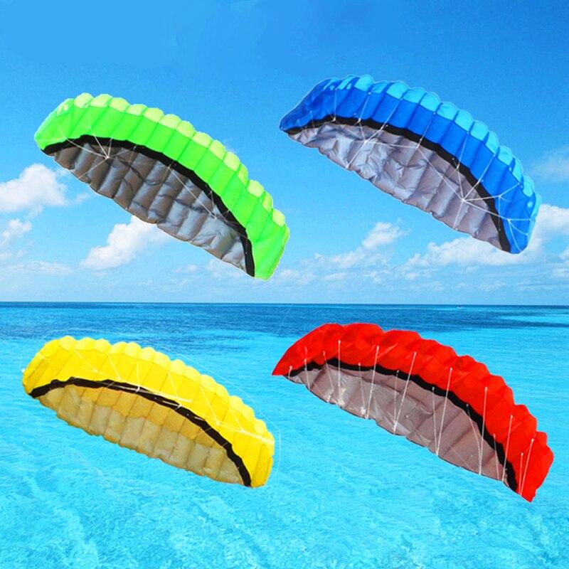 Envío Gratis 2,5 m dual line parafoil cometa herramientas voladoras energía trenza vela kiteboard juguetes al aire libre deportes playa paracaídas truco