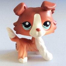 Pet Shop Lps игрушки собачья коллекция настоящие маленькие короткие волосы кокер спаниель колли бачшунд Грейт Дэйн Коллекционные сувениры