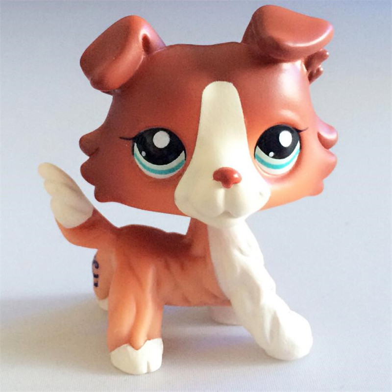 Pet Shop Lps Toys Dog Collection Real Littlest Short Hair Cat Cocker Spaniel Collie Bachshund Great Dane Collectible Gifts
