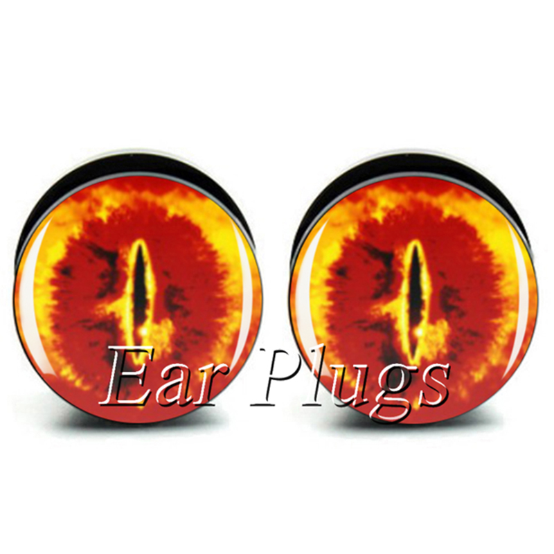 Eye of Sauron plug gauges acrylic screw ear plug gauges flesh tunnel 6-25mm 60pcs A0133
