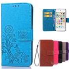 For Apple Ipod Touch 6 Case Flip Leather Wallet Card Slot Phone Case For Coque Ipod Touch 5 Silicone Phone Case Cover Stand etui