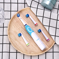 AZ-OC2 вращающаяся электрическая зубная щетка для взрослых с 4 сменными поворотными головками батарея питания без перезаряжаемого отбеливани...