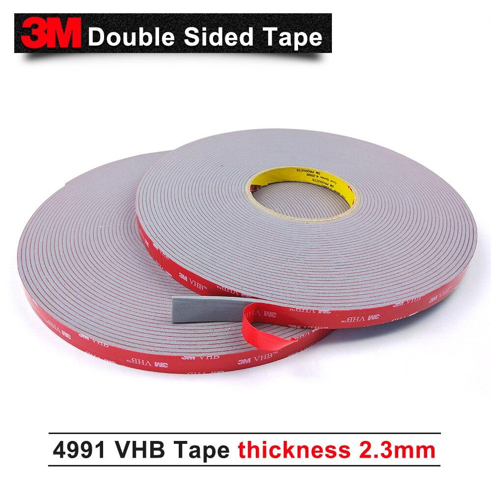 3 м двухсторонняя клейкая лента/VHB 4991 акриловое волокно/долговечность производительность/10 мм * 16,5 м * 6 рулонов/мы можем предложить другие ра