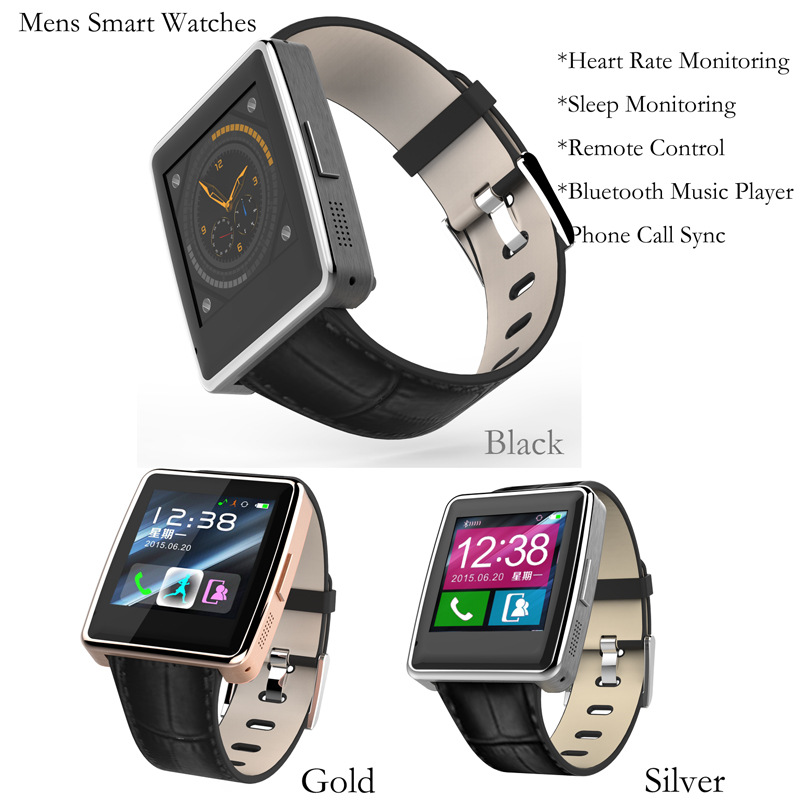Bluetooth smart Watch Bracelet real time heart rate sleep monitoring music playback