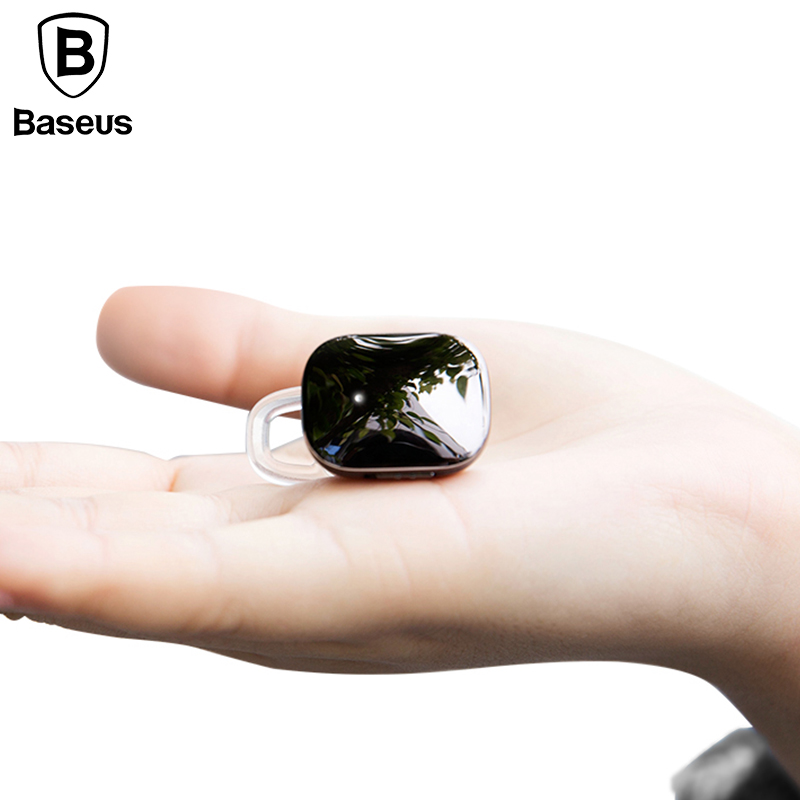 Baseus Mini Wireless Bluetooth Earphone For iPhone X 8 Samsung S9 S8 In-Ear Stereo Wireless Bluetooth Driver Earphones With Mic original mpow spuer mini in ear wireless earphones black portable bluetooth wireless earphones hands free call for car driver