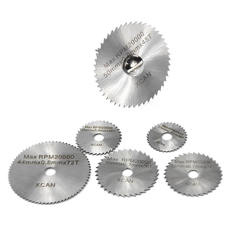 7pcs HSS Ultra-thin Saw Blades 22/25/32/35/44/50mm W/ Connecting Rod Set For Cutting Woodworking Plastic Electric Mill
