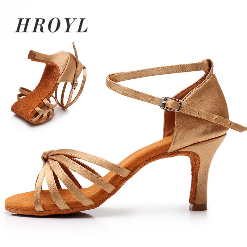New Women Latin Dance Shoes For Ladies Girls Ballroom Tango Ballet Satin Balck Dancing Shoes Dropship Wholesales Dropshipping