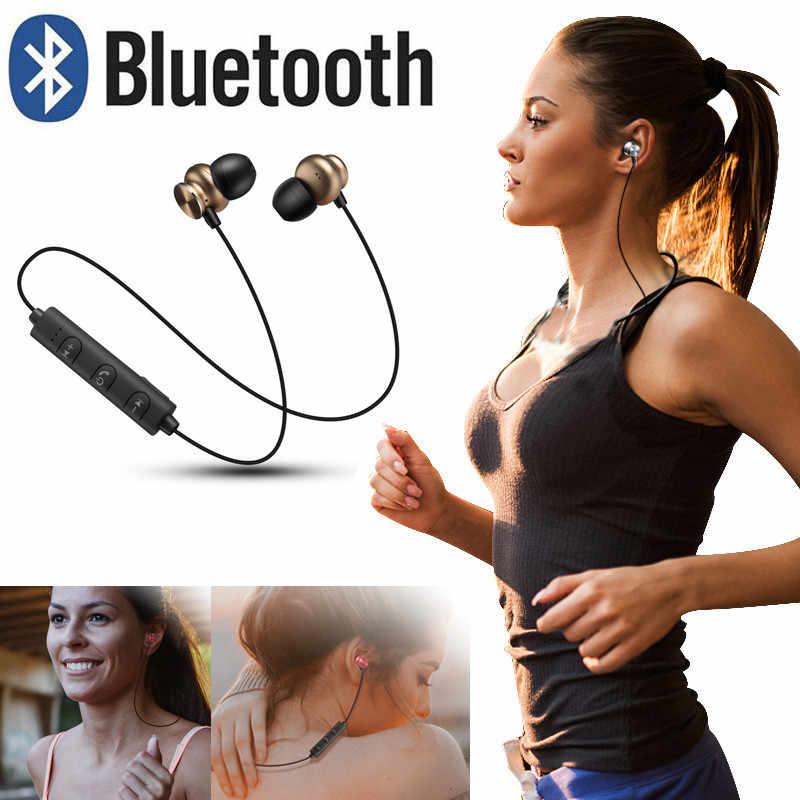 Najnowsze słuchawki Bluetooth bezprzewodowe słuchawki sportowe z pałąkiem na kark zestaw słuchawkowy z mikrofonem lekki zestaw słuchawkowy do iPhone'a dla systemu Android