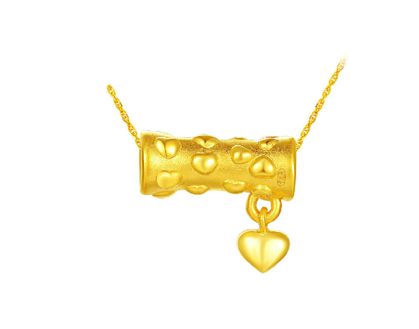 August NEW Pure 999 24K Yellow Gold Lucky 3D Heart PendantAugust NEW Pure 999 24K Yellow Gold Lucky 3D Heart Pendant