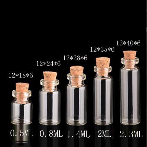 2ml Botellas de Vidrio Transparente Viales de 16*25mm con tapa de plástico botella pequeña 35 un
