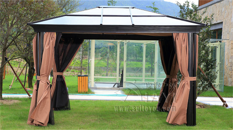 3*3.6 meter PC board high quality durable garden gazebo grace outdoor tent canopy fashion aluminum sun shade pavilion 3 3 6 meter pc board high quality durable garden gazebo grace outdoor tent canopy fashion aluminum sun shade pavilion