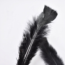 100pcs/lot black Turkey Feathers For Jewelry Making Plumas 4-6inch DIY Dyed Crafts Home Wedding Party Decoration