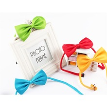 Cat Dog Collar Bow Tie Adjustable Neck Strap Grooming Accessories For Dogs Pets Products Supplies 5pcs