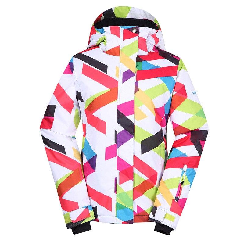 GSOU SNOW women's ski suit Outdoor anti static windproof ski jacket single plate waterproof breathable ski clothing for lady недорого